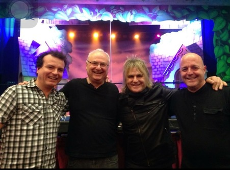 Mike Peters of The Alarm with Jonny Christie  Steve Allan Jones  Adam Behrens